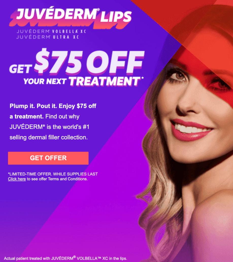 Juvederm Promotion